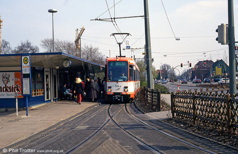 Bielefeld 524 at Sieker on 11th April 1993.