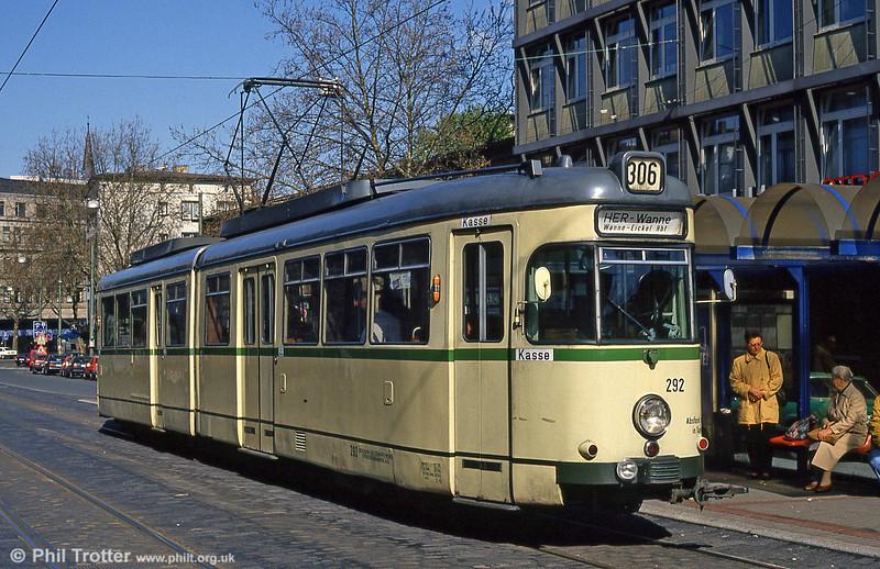 Bochum 292 at the Hauptbahnhof on 23rd April 1993.