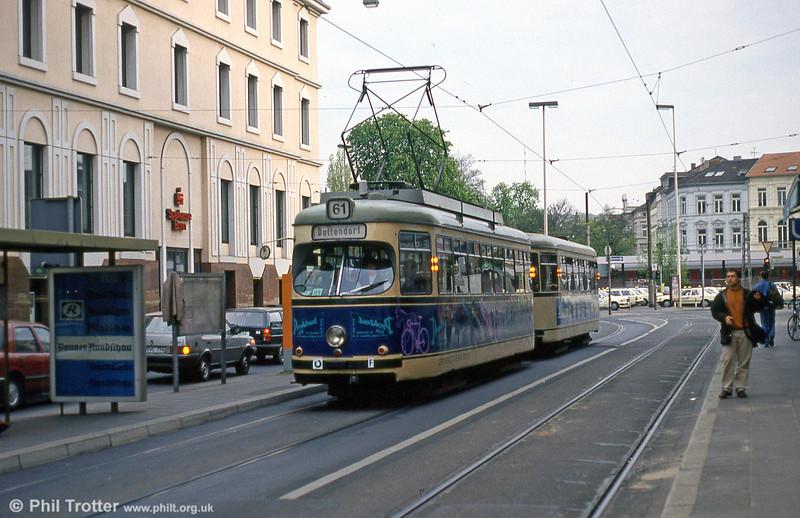 Bonn Duewag car 217 at Thomas Mann Strasse on 21st April 1994.