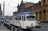 An unidentified Bonn Duewag car at the Hauptbahnhof on 1st April 1991.