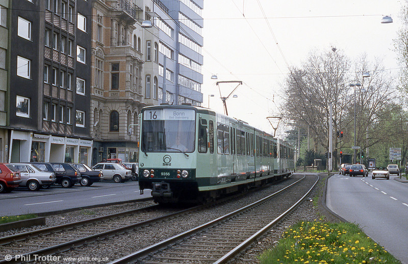 Bonn Stadtbahn car 8377 at Cologne, Chlodwigplatz on 17th April 1994.