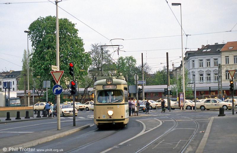 Bonn Duewag car 234 at Thomas Mann Strasse on 21st April 1994.