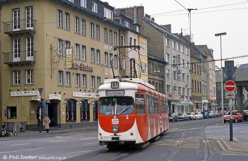 Bonn car 237 at Oxfordstrasse on 1st April 1991.