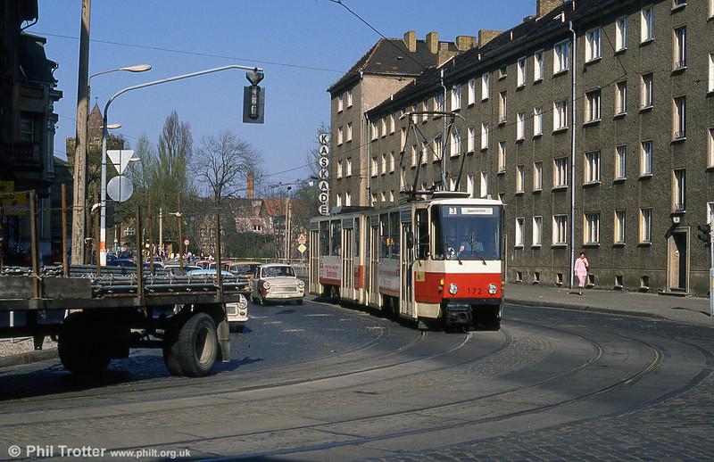 Brandenburg Tatra KT4D 172 in Jacobstrasse.