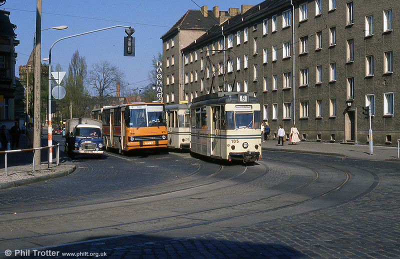 1958 Gotha T57 car 105 in Jacobstrasse.