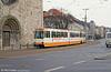 Braunschweig car 8163 at John F. Kennedy Platz on 10th April 1993.