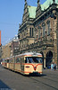 Bremen Hansa car 3510 passes the magnificent Rathaus on 20th April 1994. One of themost spectacular buildings to be found anywhere in Germany, Bremen town hall was built between 1405 and 1410 with a Weser Renaissance facade added in the 17th century.