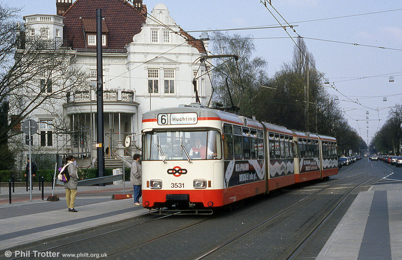 Bremen Wegmann car 3531 at Am Stern on 20th April 1994.