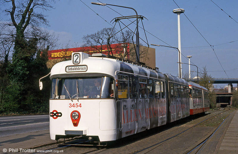 Bremen Hansa car 3454 at  D. v. Buren Strasse on 11th April 1993.