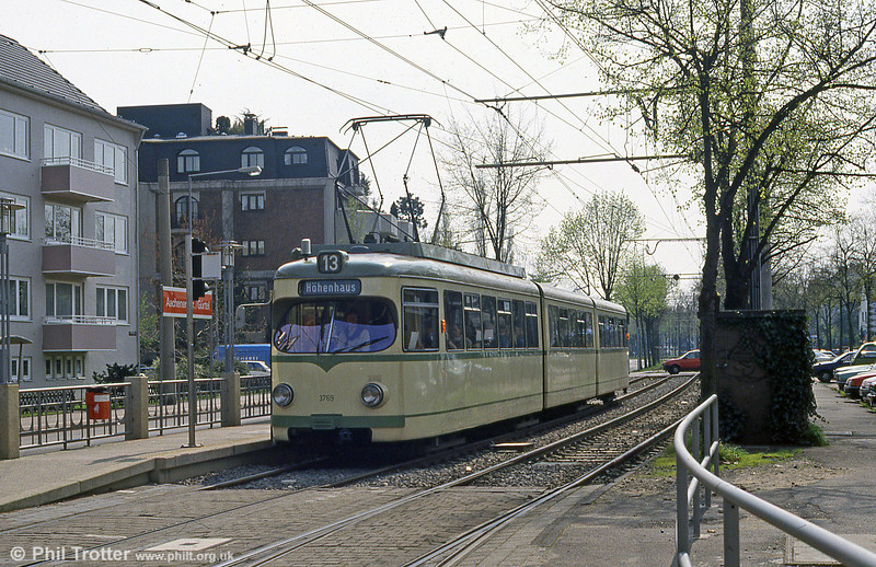 Duewag car 3769 at Aachner Strasse on 16th April 1994.