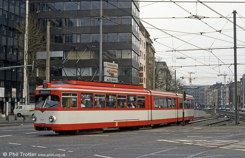 Car 31177 at Barbarossaplatz on 16th April 1994.