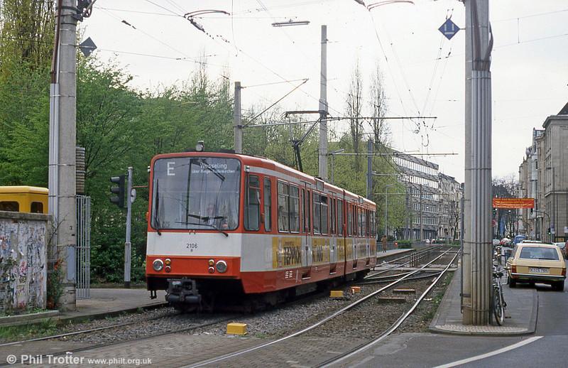 Koln interurban car 2106 at Ubierring on 17th April 1994.