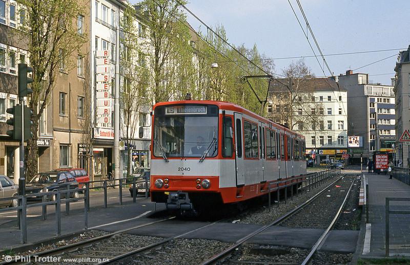 Car 2040 at Chlodwigsplatz on 17th April 1994.