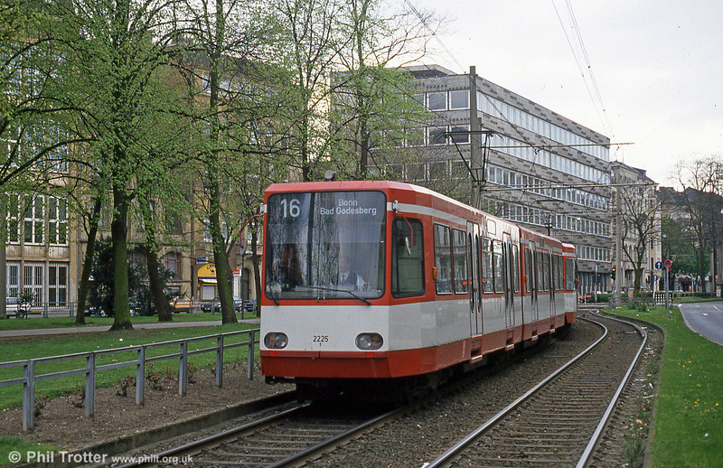 Koln interurban car 2225 at Ubierring on 17th April 1994.