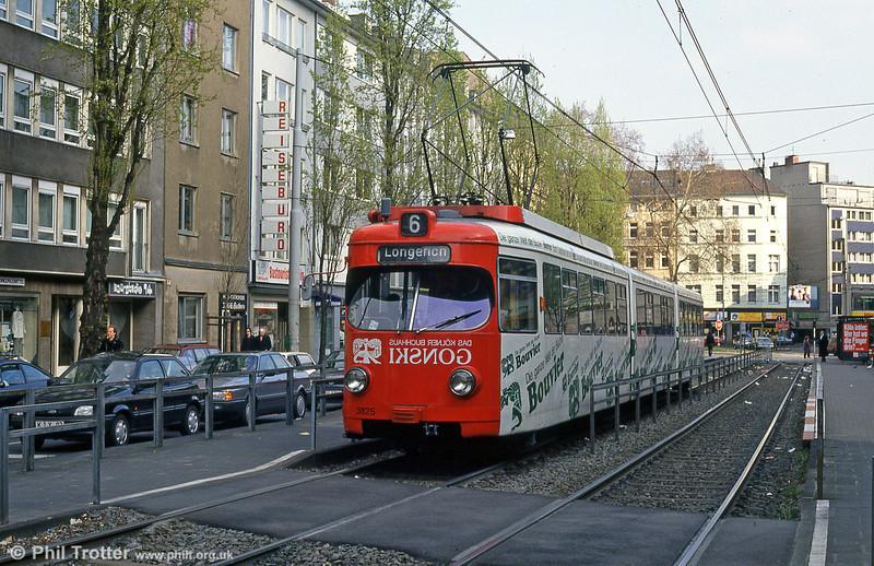 Car 3825 at Chlodwigsplatz on 17th April 1994.