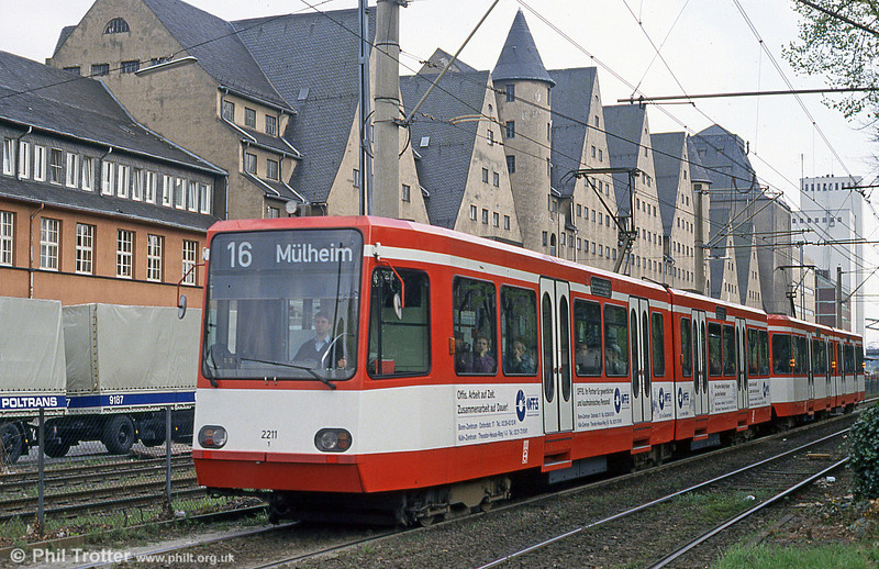 Koln interurban car 2211 at Ubierring on 17th April 1994.
