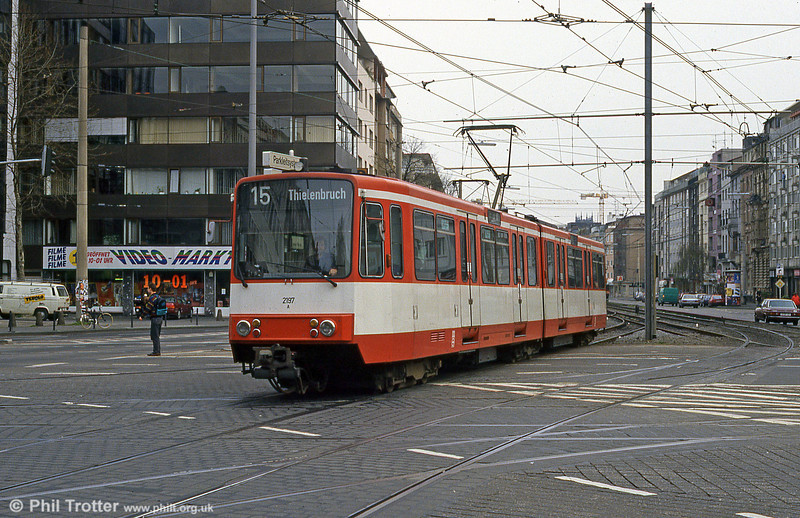 Koln interurban car 2197 at Barbarossaplatz on 16th April 1994.