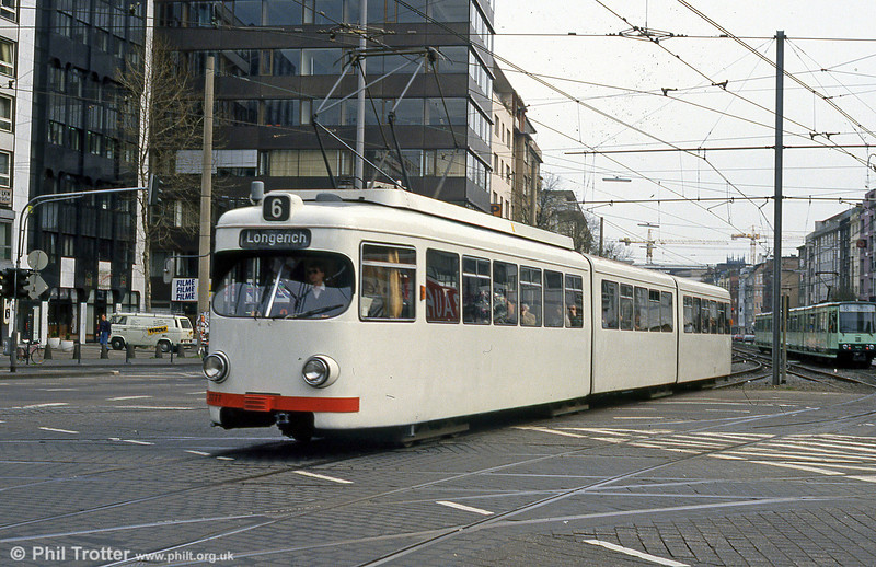 Car 3777 at Barbarossaplatz on 16th April 1994.