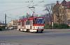 Cottbus Tatra KT4D 3 at Stadthalle on 17th April 1993.