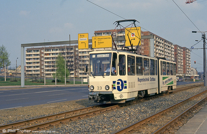 Cottbus 67 at Hauptbahnhof on 17th April 1993.