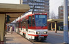 Cottbus 30 in revised livery at Stadtpromenade on 17th April 1993. (First published in Light Rail & Modern Tramway, 2/94).