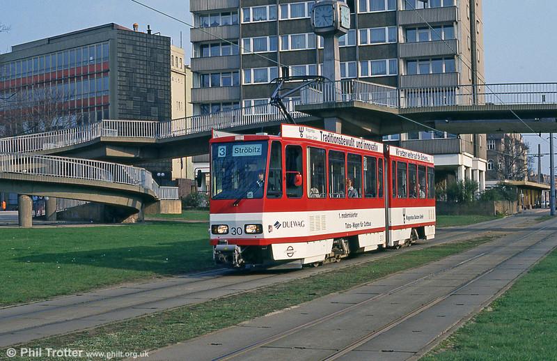 Cottbus 30 at Stadtpromenade on 17th April 1993.