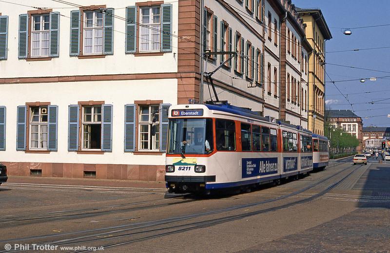 Darmstadt 8211 at Luisenplatz on 3rd April 1991.