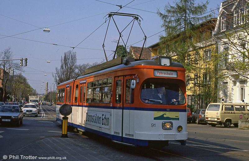 Darmstadt 91 on driver training duty at Arlheigen on 3rd April 1991.