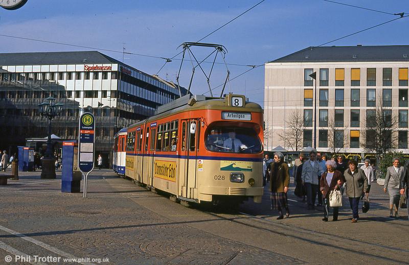 Darmstadt 28 at Luisenplatz on 3rd April 1991.
