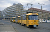 Dresden 551 in the city's new yellow livery at Postplatz on 7th April 1991. (First published in Modern Tramway, 9/91).