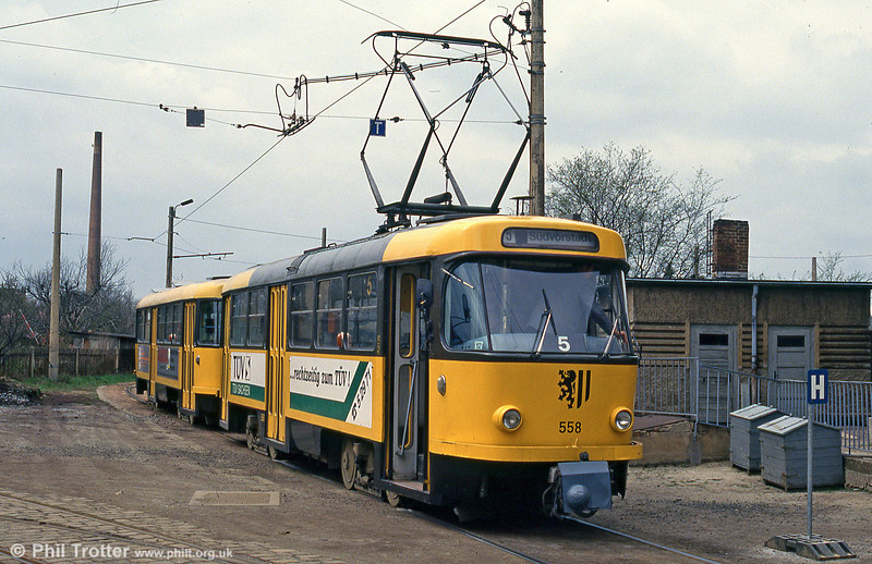 Dresden T4D car 558 at Radebeul West on 18th April 1993.