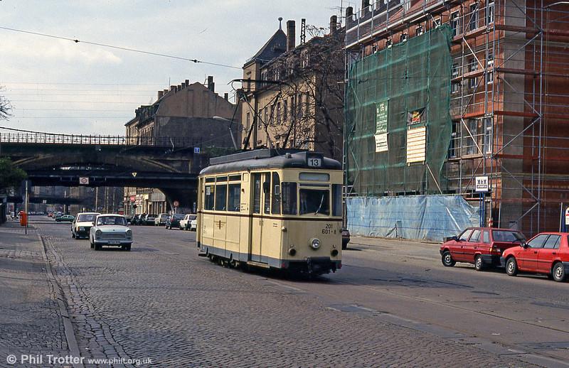 Dresden Gotha car 601 at Bischofsplatz on 18th April 1993.