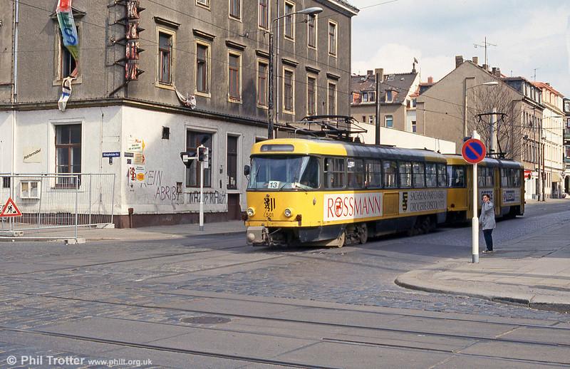 Dresden T4D car 501 at Mickten on 18th April 1993.