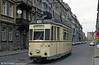 Dresden still had this Gotha car working on one route on 18th April 1993. Built in 1960, the car was foat Chemnitz. Seen here in Rothenburger Straße.