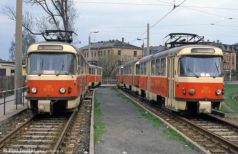 Dresden T4D car 805 at Coshutz on 7th April 1991.