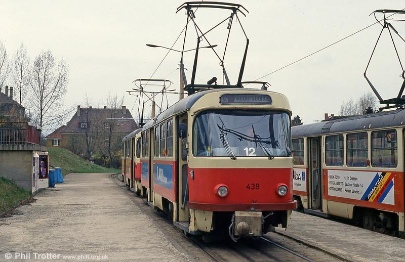 Dresden T4D car 439 at Coshutz on 18th April 1993.