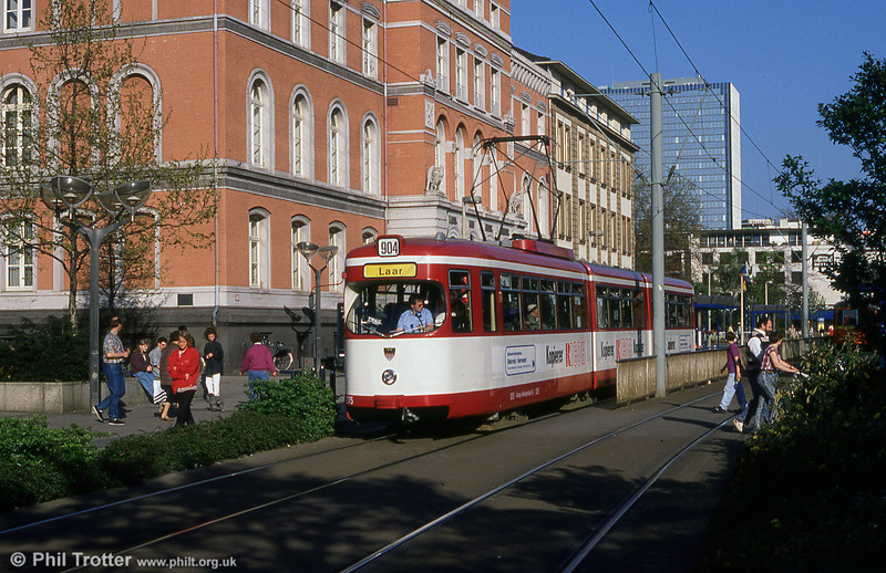 Duisburg 1075, another Duewag car at Konigstrasse.