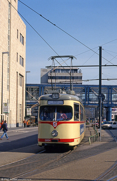 Dusseldorf 2854 at the Hauptbahnhof on 24th April 1993.