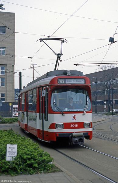 Dusseldorf 3046 at the Hauptbahnhof on 1st April 1991.