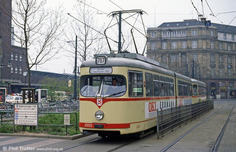 Dusseldorf 2303 at the Hauptbahnhof on 1st April 1991.