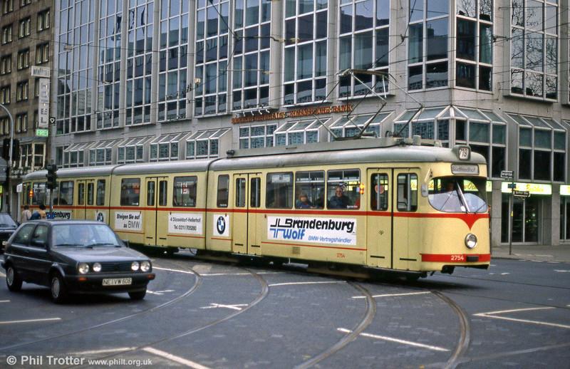 Car 2754 at Berliner Allee on 1st April 1991.