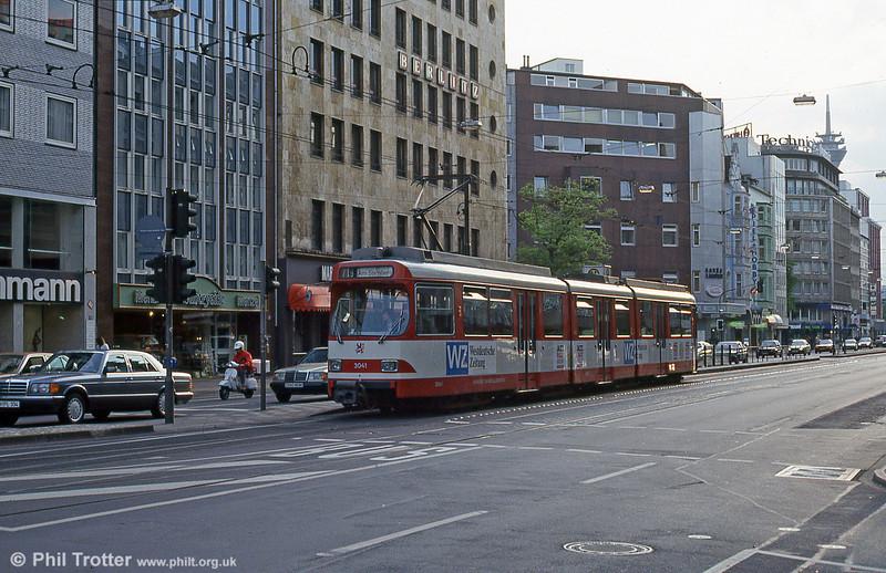 Dusseldorf 3041 at Berliner Platz on 23rd April 1993.