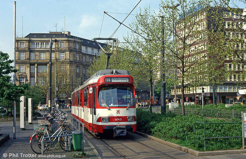 Dusseldorf 3043 at the Hauptbahnhof on 24th April 1993.