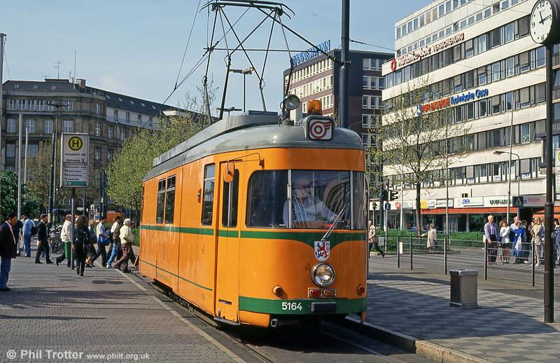Dusseldorf works car 5164 at Hbf. on 23rd April 1993.