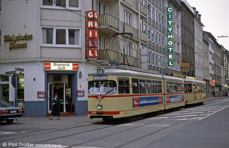 Dusseldorf 2420 at the Hauptbahnhof on 1st April 1991.