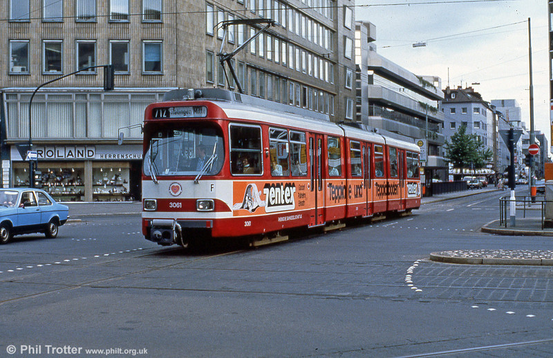Car 3061 at Berliner Allee on 1st April 1991.
