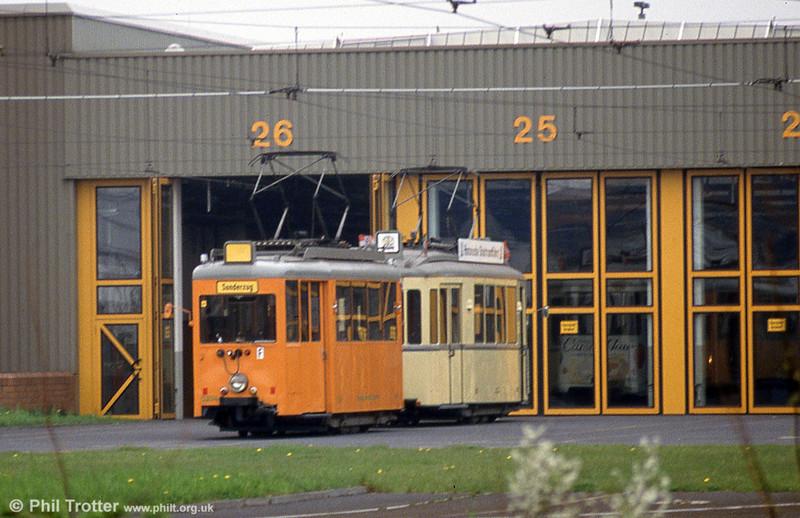 1951-built works car 5234 of 1951 (ex-394) at Lierenfeld depot on 21st April 1994.