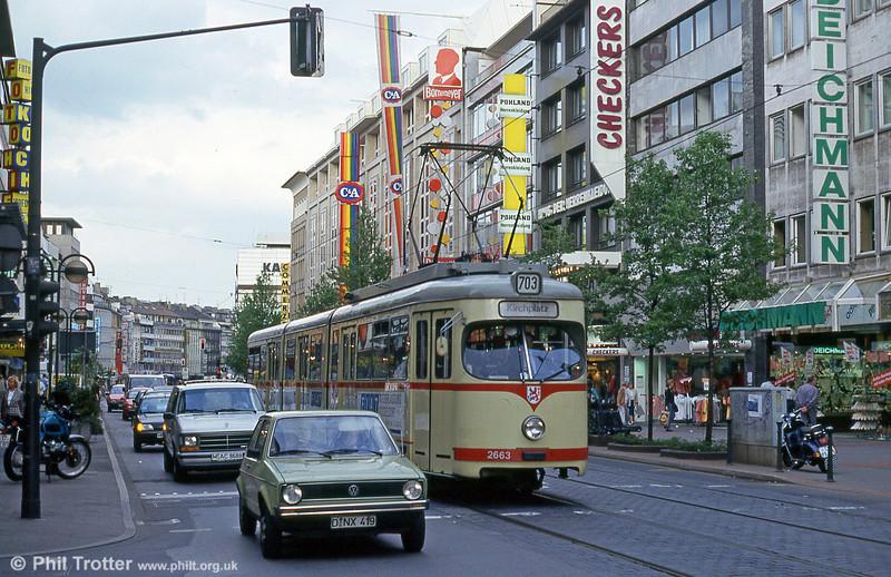 Car 2663 at Oststrasse on 23rd April 1994.