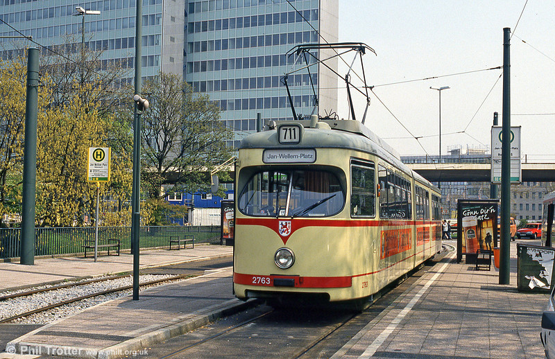 Car 2763 at Jan Wellem Platz on 21st April 1994.