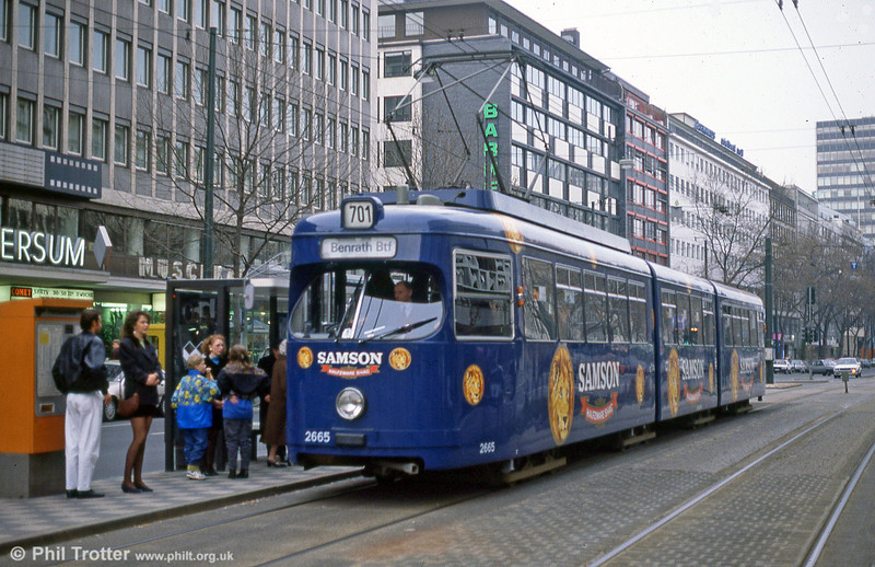 Car 2665 at Berliner Allee on 1st April 1991.